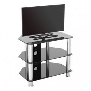 Porta Tv Lcd Vetro.Porta Tv Moderno Vetro Nero Unita Fino A 81 3cm Hd Lcd Led Curvo