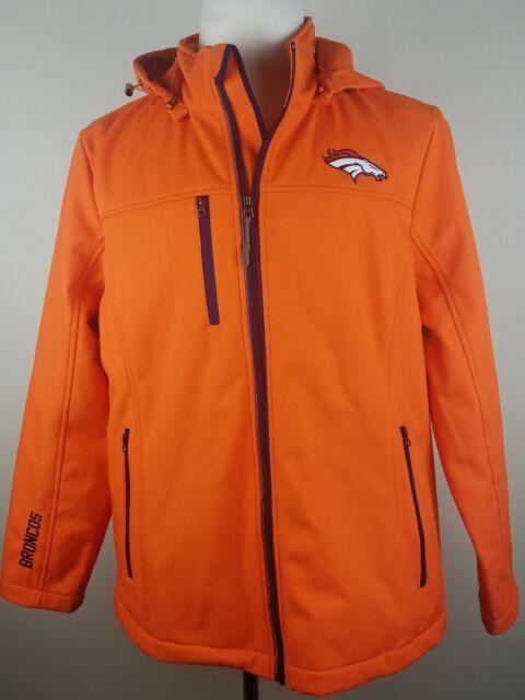 NFL Football Youth Denver Broncos Full Zip Helmet Masked Hoodie Orange