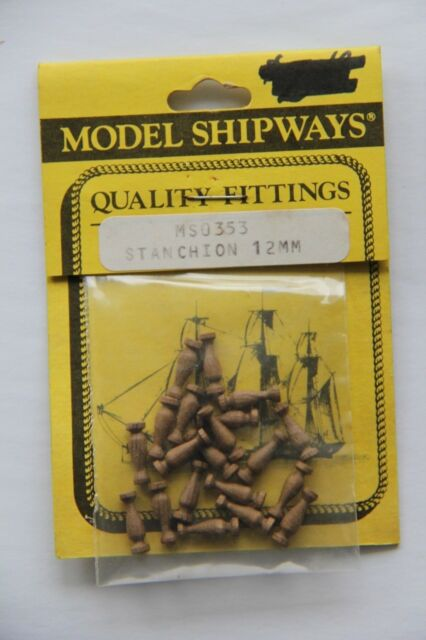 Model Shipways Fittings MS0353 Stanchions 12mm 20 Count Wooden NEW Old Stock