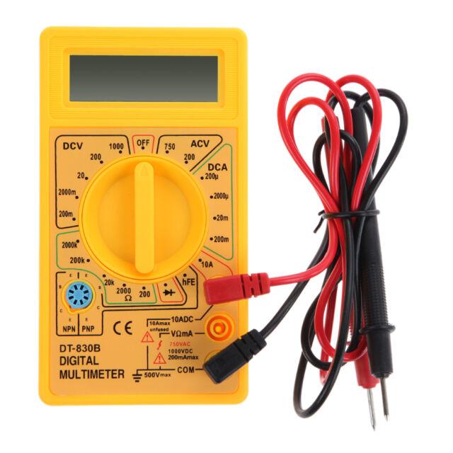 LCD Auto Range AC DC Digital Voltmeter Ammeter Ohmmeter Multimeter Volt Tester