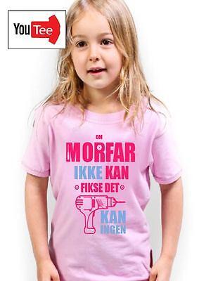 Morfars drill tshirt t shirt norway grandad kids son father dad bestefar pappa