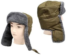 e5be5798573 Ex-Army Trooper Hat Fur Lined Winter Trapper Hat Unissued Like ...