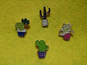 Cacti-Succulent-Hat-Lapel-Pin-Brooch-Aloe-Echinopsis-Saguaro-Echeveria-Cactus