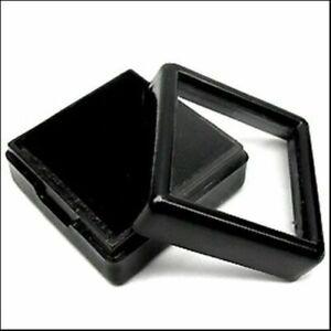 1 Pack GemstonesDiamond 20 Pcs30 mm Black Plastic Box Storage For Gem Display