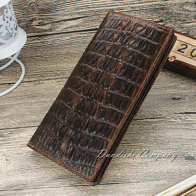 Bifold Wallet Men's Genuine Leather Credit ID Card Holder Large Capacity Purse