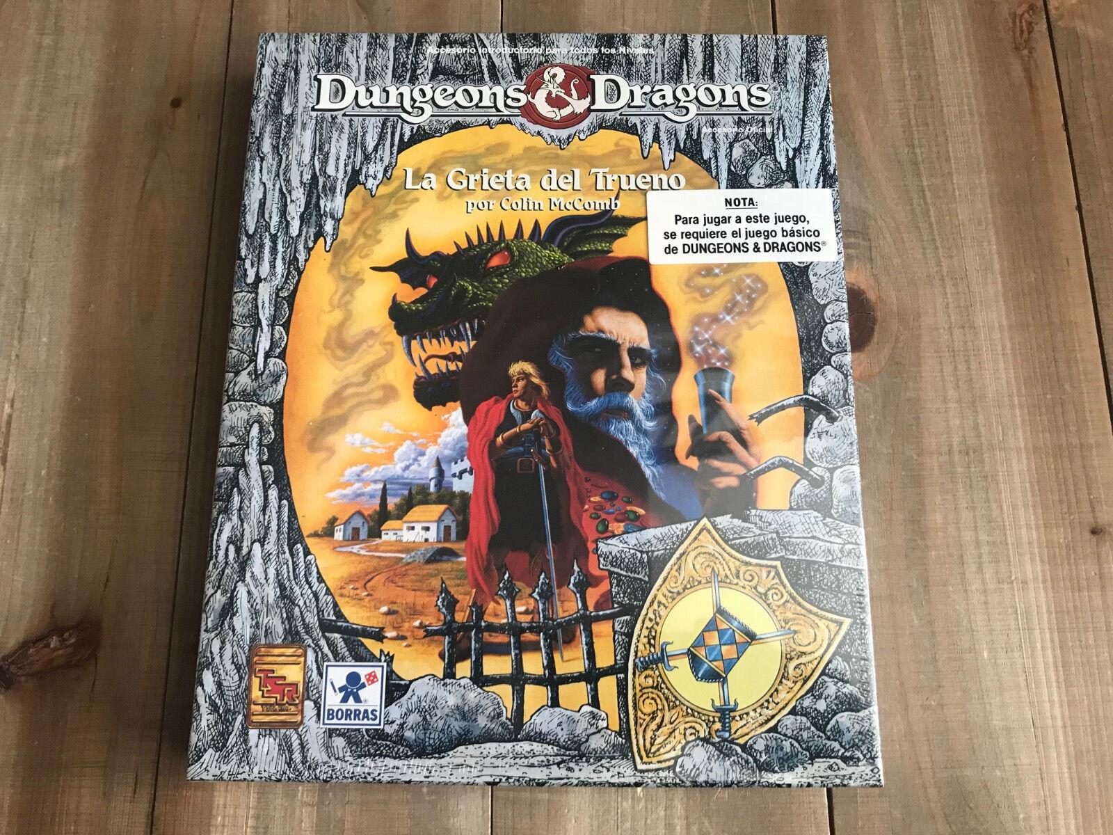 Dungeons & Dragons - LA GRIETA DEL TRUENO - Borrás - TSR - BASIC D&D