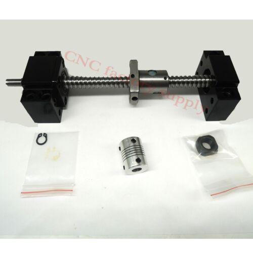 SFU1204-700mm-C7+BK//BF10 lead screw ball screw antibacklash ballscrew coupler