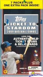 2009-Topps-Ticket-to-Stardom-Baseball-Factory-Sealed-Blaster-Box-Rare