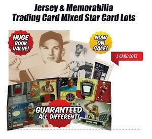Basketball-Sports-Jersey-amp-Memorabilia-Insert-Trading-Cards-5-Cards-BASKETBALL