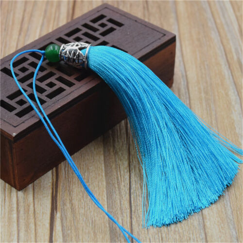 10x soie artificielle glands Trim rayonne DECOR Parage dentelle Handmade Craft Sewing