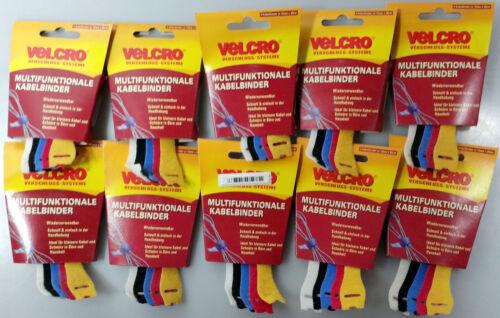 50 Stück VELCRO®  Klett Cable Manager Kabelbinder 12 mm x 20 cm wiederverwendbar