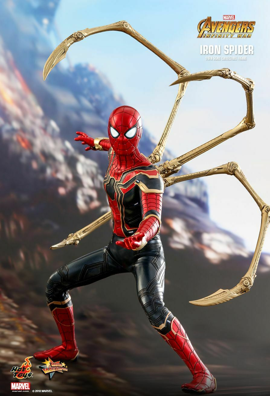 LAYBY nuovo MISB  PRICE =  659.99 caliente giocattoli  1 6 IRON SPIDER AVENGERS INFINITY WAR  grande vendita
