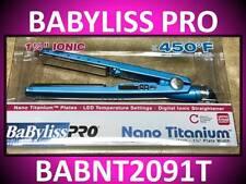 "NEW BABYLISS PRO 1 1/4"" NANO TITANIUM FLAT IRON 450° HAIR STRAIGHTENER BABNT2091"