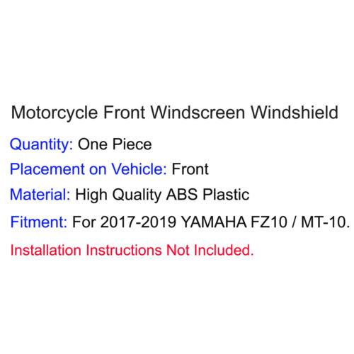 Dark Smoke Windscreen Windshield Mount Bracket For 2017-2019 YAMAHA MT-10 FZ-10