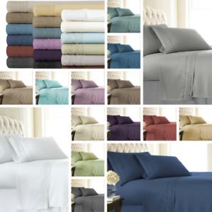 4-Piece-Extra-Deep-Pocket-Vintage-Crochet-Lace-Hem-Best-Sheet-Set-18-colors