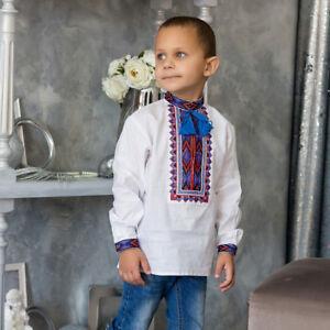 wholesale lot retail KOZACHOK for boys 2-12yr Ukrainian Embroidered  Shirt