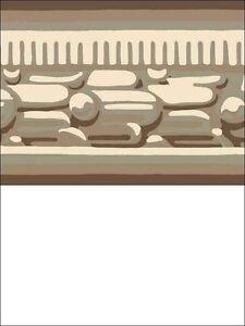 Wallpaper-Border-Classic-Architectural-Molding-Taupes-Beige-amp-Metallic-Platinum