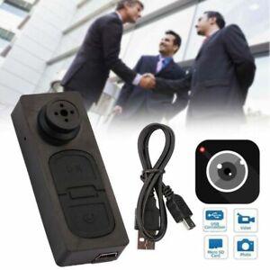 Mini HD 1080p Button Spycam Camera Camcorder Video Recorder DV Pinhole Cam DVR