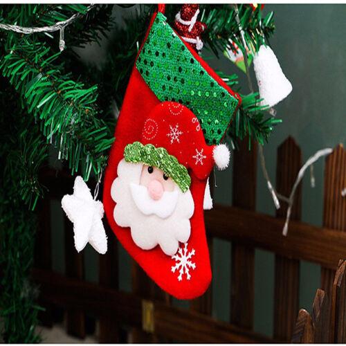 Christmas Santa Socks Cute Ornaments Festival Party Xmas Tree Hanging Decoration