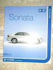 Hyundai Sonata range brochure May 2006 UK market