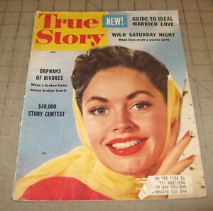 TRUE STORY (March 1955) Fair+ Condition Magazine - Wild Saturday Night