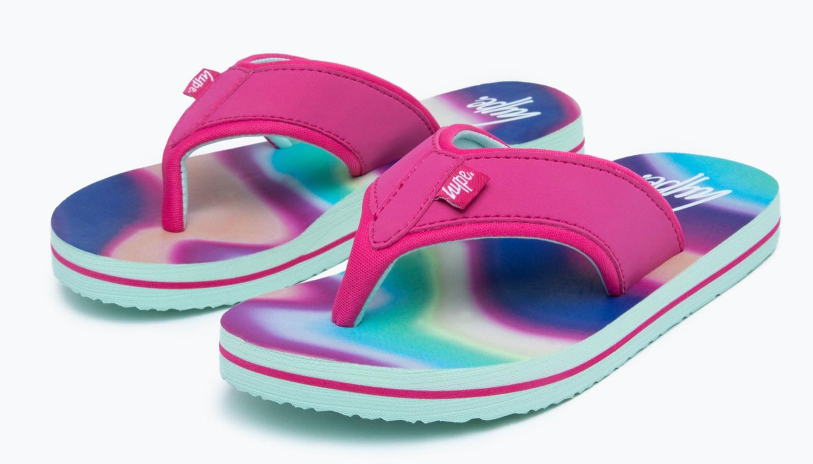 Hype Kids Rainbow Wave Foam Flip Flop