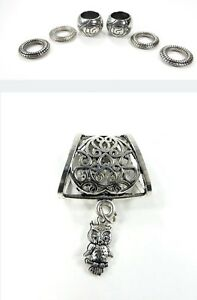 US SELLER-flower scarf pendant bail slide set charms jewelry