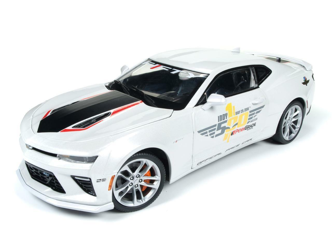 Auto World 1 18 2017 Chevrolet Camaro SS Indy 500 Pace Coche AW236 oficial