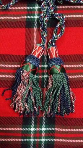 TC Highland Bagpipes Drone Silk Cord Mackenzie Color//Scottish Bagpipe Silk Cord