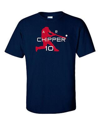 """Chipper Jones Atlanta Braves /""""Air Chipper/"""" jersey T-shirt  S-5XL"""