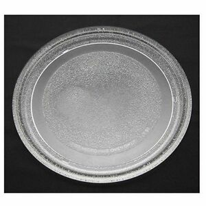 """9 5/8"""" Diameter ~ 7 1/8"""" Ring ~ Microwave Plate Glass Round Platter Dish Tray"""