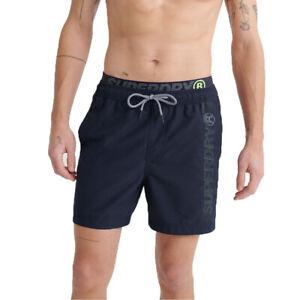 Superdry-Herren-State-Volley-Swim-Short-Schwimmhose-Shorts-M3010010A-blau