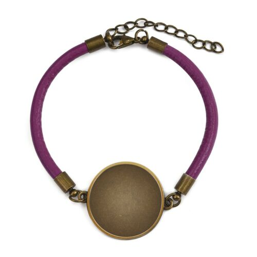1//5//20Pcs Leather Bracelet Blank Setting Base Fit Glass Cabochon Gems Bezel Tray