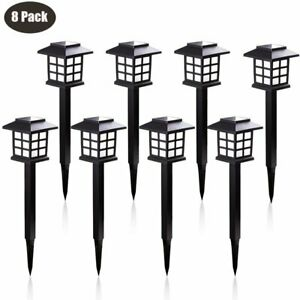 8-Pack-Outdoor-Garden-Solar-Power-Pathway-Lights-Landscape-Lawn-Patio-Yard-Lamp