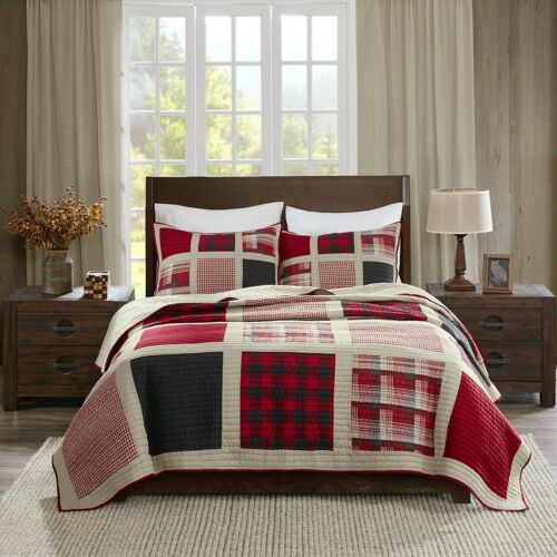 Woolrich Huntington Quilt Mini Set Cal King Red King//Cal King