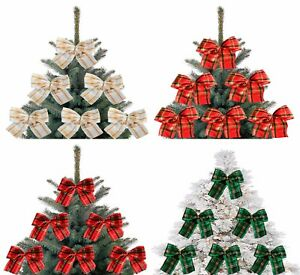 image is loading 5x red and gold christmas tree bows bow - Christmas Tree Bows