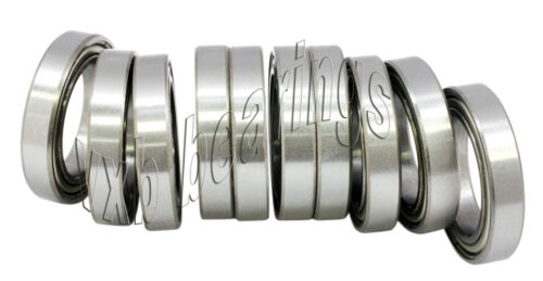 Pack of 10 7x13 Stainless Steel 7x13x4 Shielded Miniature Bearings 7mm x 13mm