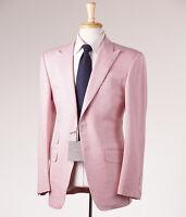 $5800 Tom Ford Pink Woven Herringbone Wool-linen Suit 38 R + Hanger (eu 48)