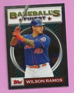 2020 Topps Baseball Finest Flashback Wilson Ramos #158 New York Mets