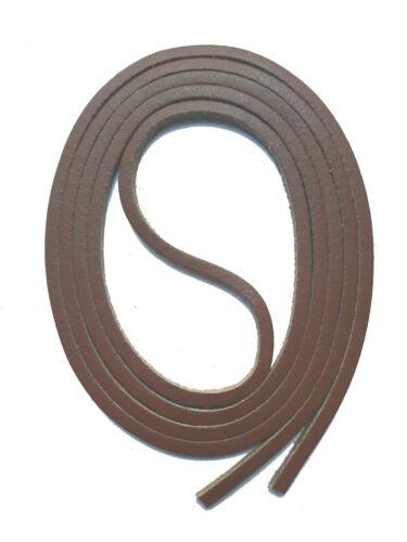 Lacets De Cuir 120 cm long 3x3mm Cordon Cuir Pour Voile Chaussures Mocassin snors
