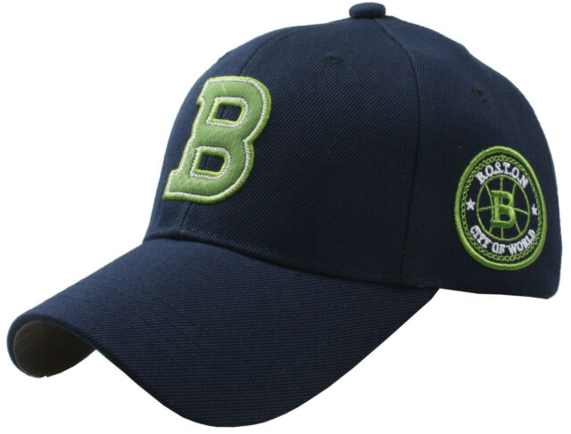 B96 FUERZA Baseball Sports Boston B Logo Driving Design Ball Cap Hat Truckers