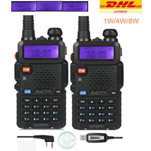 DE-2-BaoFeng-UV-5RTP-Cable-Tri-Power-1-4-8W-Radio-Portatil-Transceptor-Emisora