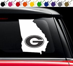 Georgia Bulldogs State Pride Sticker Vinyl Car Truck Window Decal - Window decals for vehicles