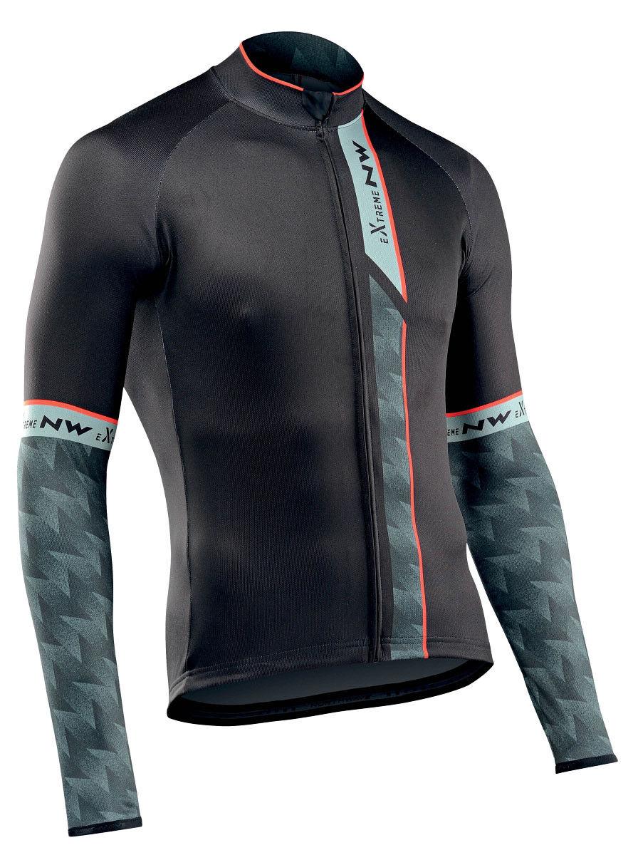 Northwave Extreme 3 Fahrrad Trikot lang schwarz/grün schwarz/grün schwarz/grün 2019 64fd53