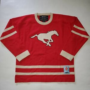 Reebok-By-Roger-Edwards-Calgary-Stampeders-CFL-Football-Sweater-Men-039-s-Large-Red