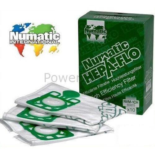 10 x NVM-1CH véritable poussière sacs pour numatic NVR260 pheonix PSP-200A