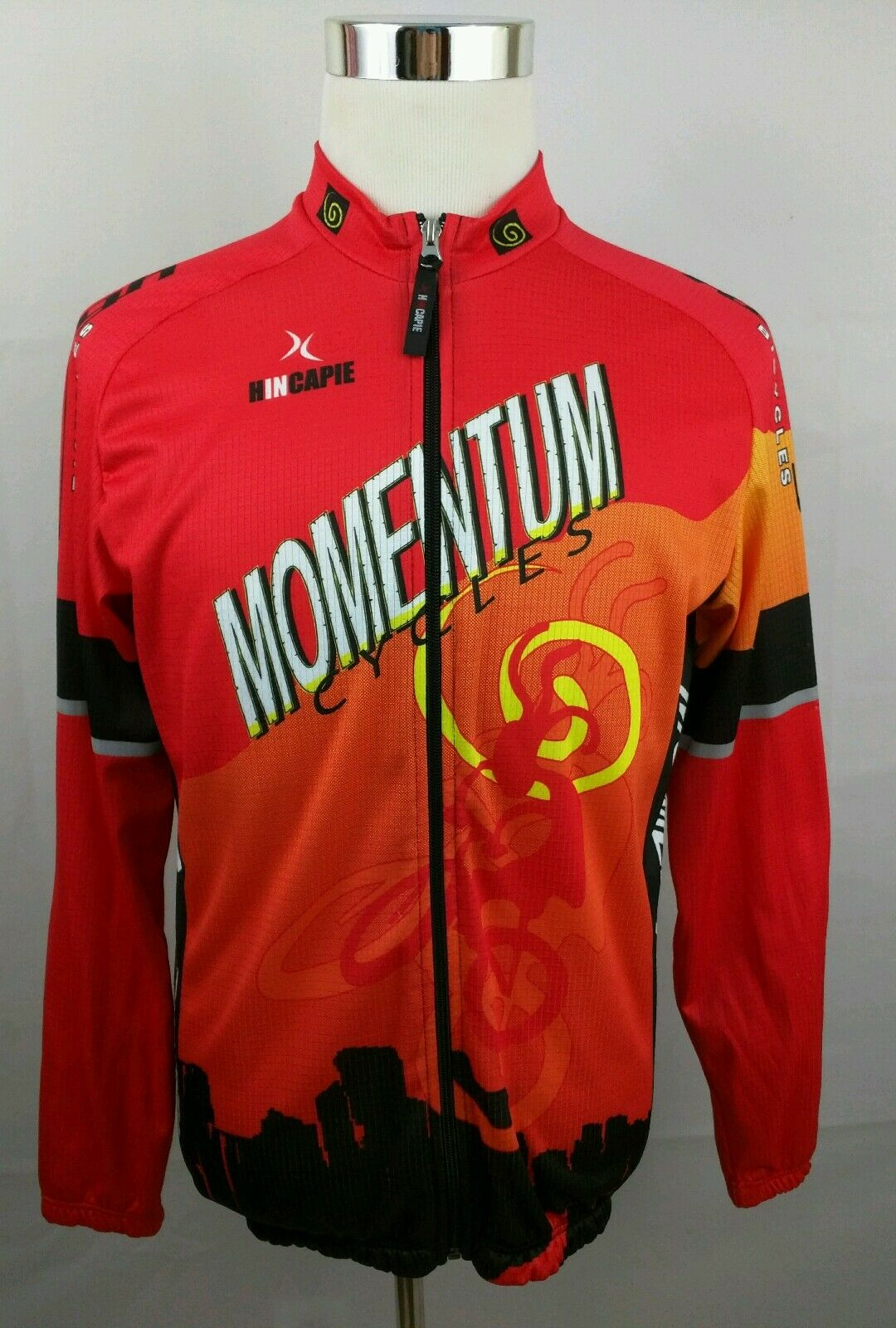 Hincapie Momentum Raleigh Bycicles Cycling Jersey LS XXL