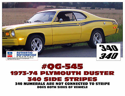 GE-QG-304 & 543 1972 PLYMOUTH DUSTER 340 - SIDE & TAIL