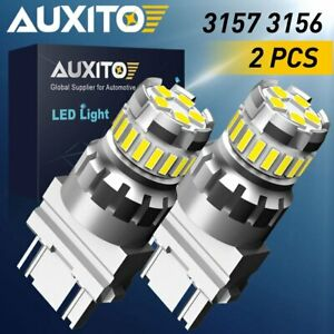 AUXITO 3157 LED Reverse Brake Turn Signal Parking Light Bulbs 6000K White...