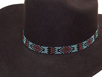 Beaded Cowboy Hat Band Stretch Fit Diamond Design | eBay